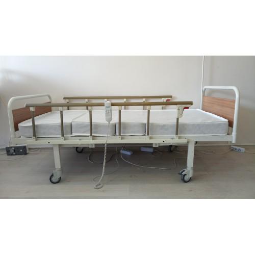 PY159 2 Motorlu MDF Tabanca Hasta Karyolası + 4 Parçalı Yatak