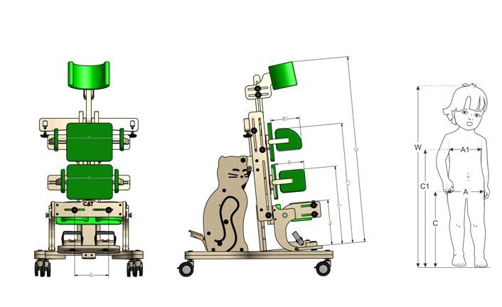 CAT 2 Spastik Dik Pozisyonlandırma Cihazı Fiyat